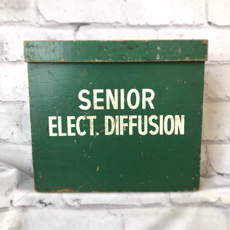 品番1089 エレクトリックボックス SENIOR ELECT. DIFFUSION BOX グリーン 取っ手付き ヴィンテージ