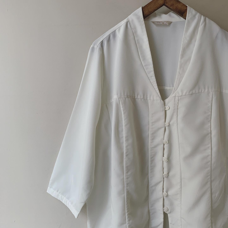 vintage open front blouse