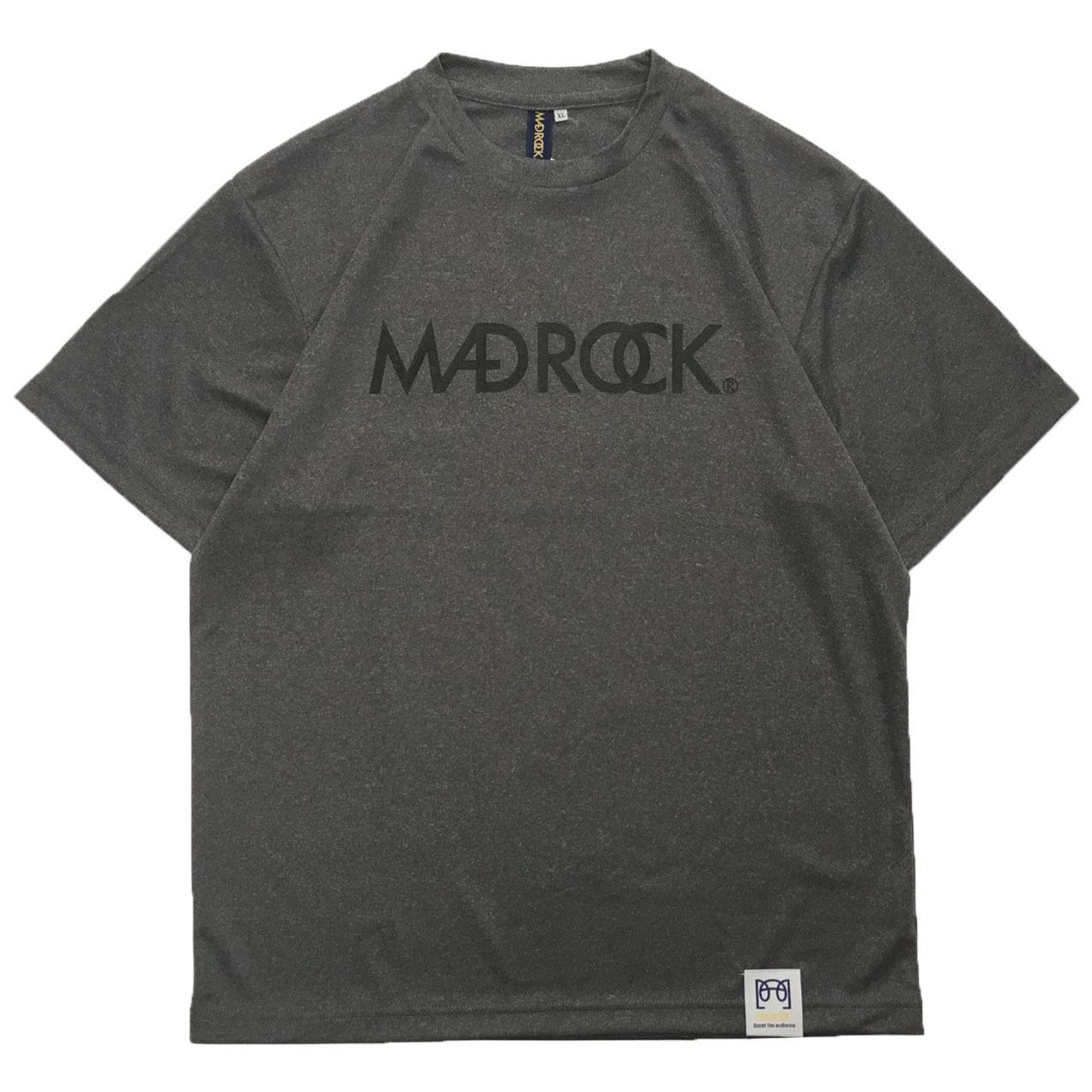 マッドロックロゴ Tシャツ/ドライタイプ/ヘザーグレー&ブラック