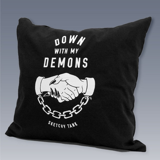 LURKING CLASS by SKETCHY TANK #DEMONS Pillow