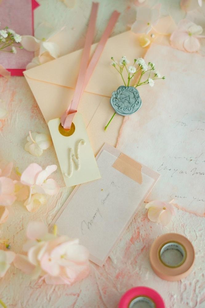 45サイズ:ストックピンク「花香」を感じる5種の淡い色のスタイリングボード