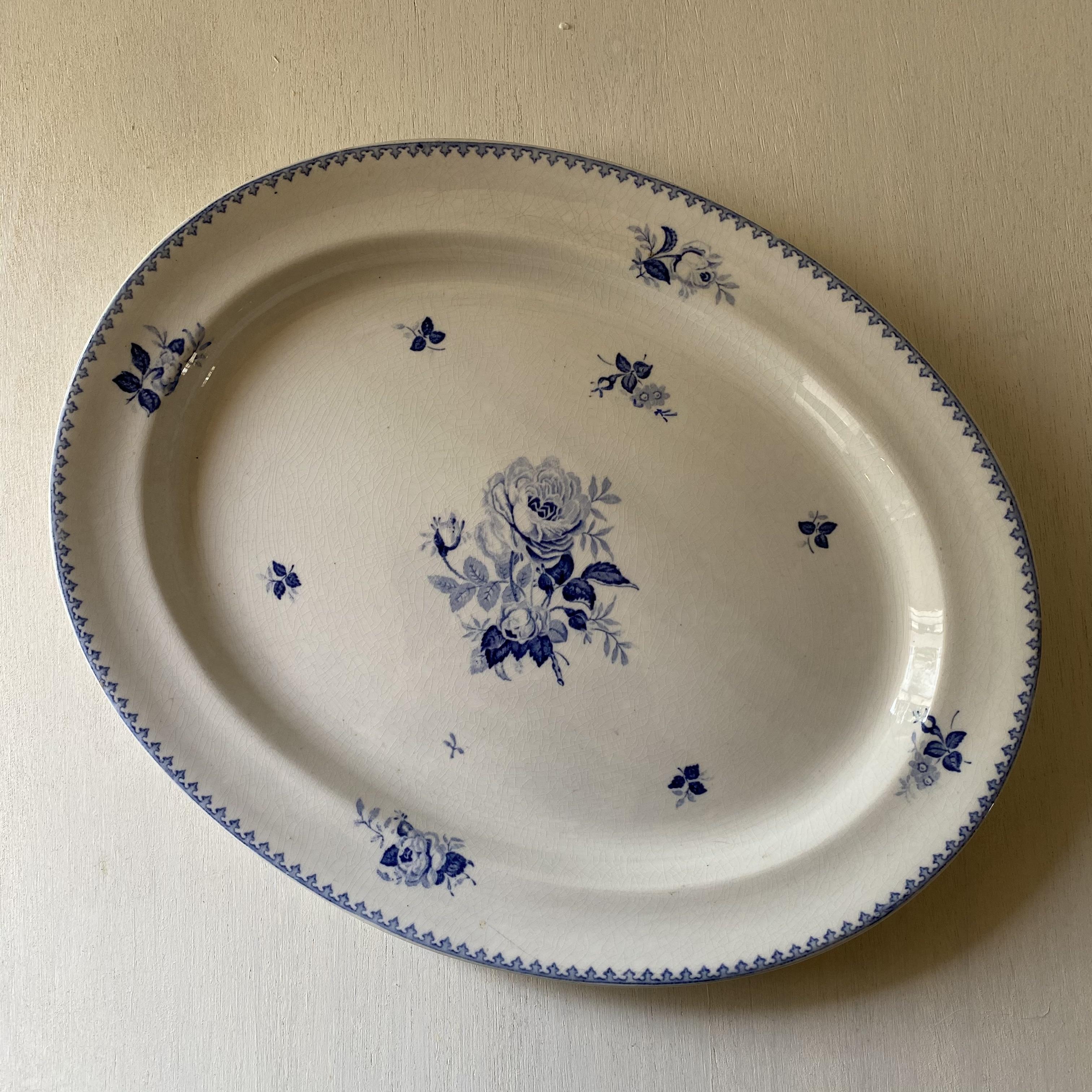 イングリッシュローズのオーバル皿