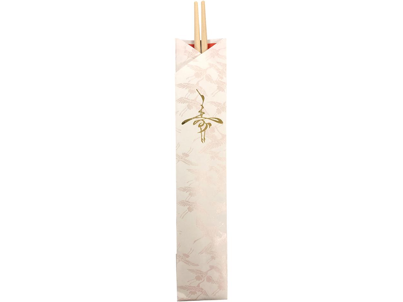 国産ヒノキの割り箸 「桧祝箸 金寿千羽鶴5膳」 ポストIN発送対応商品