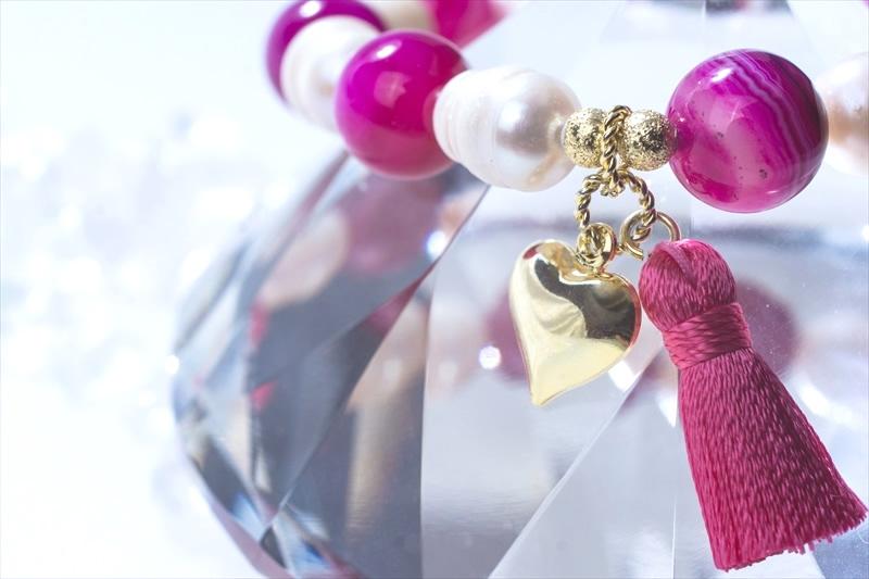 Onyx & Pearl【パワーストーンブレスレット 】 - 画像3
