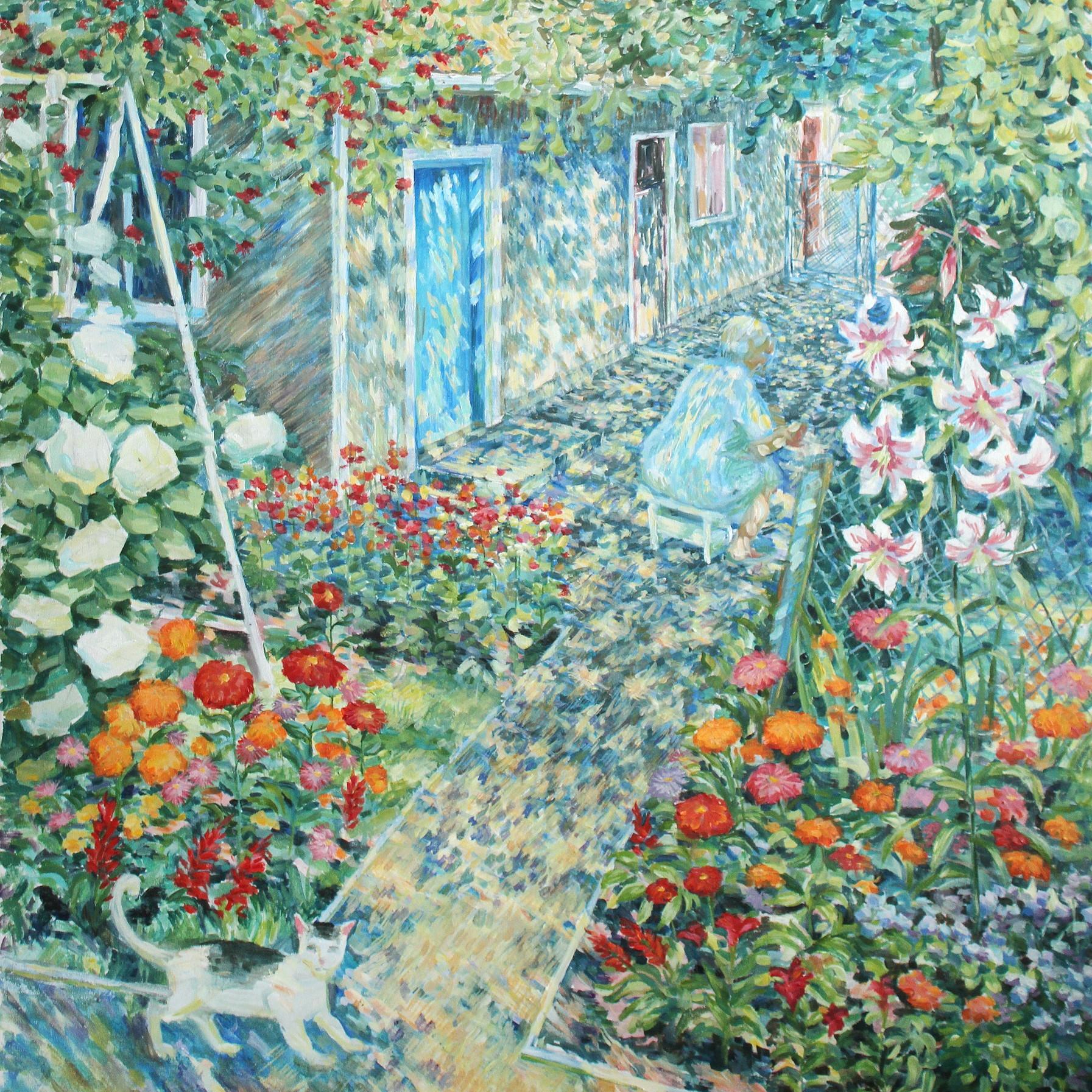 絵画 インテリア アートパネル 雑貨 壁掛け 置物 おしゃれ 油絵 水彩画 鉛筆画 花 自然 風景 ロココロ 画家 : Uliana ( ウリャーナ ) 作品 : u-8