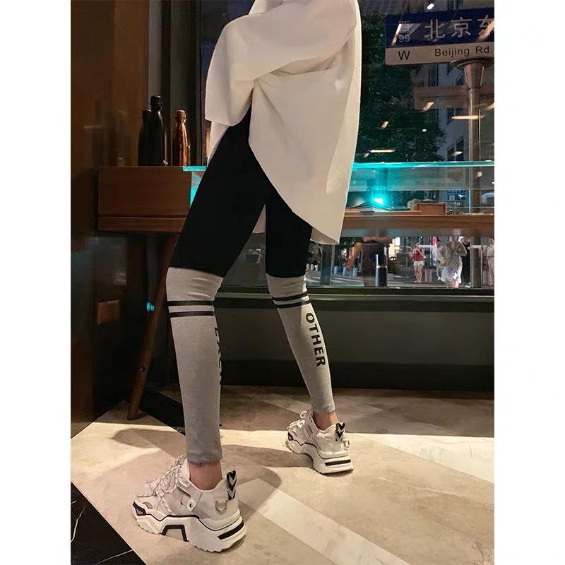 half color leggings