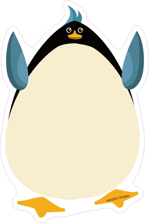 冷蔵庫マグネットホワイトボード(ペンギン)
