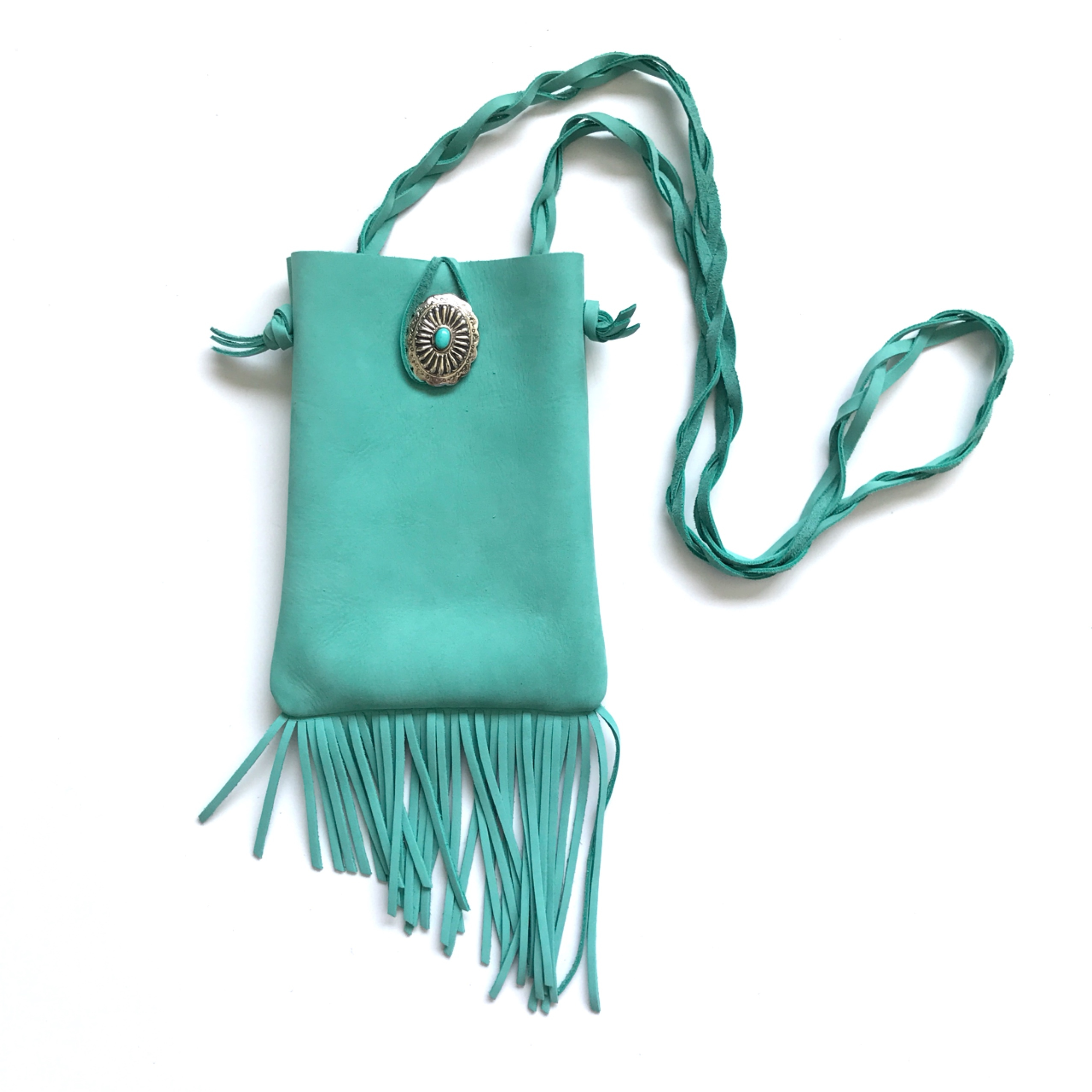 Fringe Shoulder Bag  < ICE BLUE >