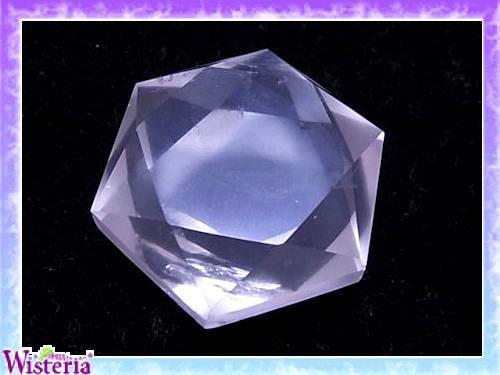 水晶 六芒星(hexagram) 直径37mm×厚み16mm