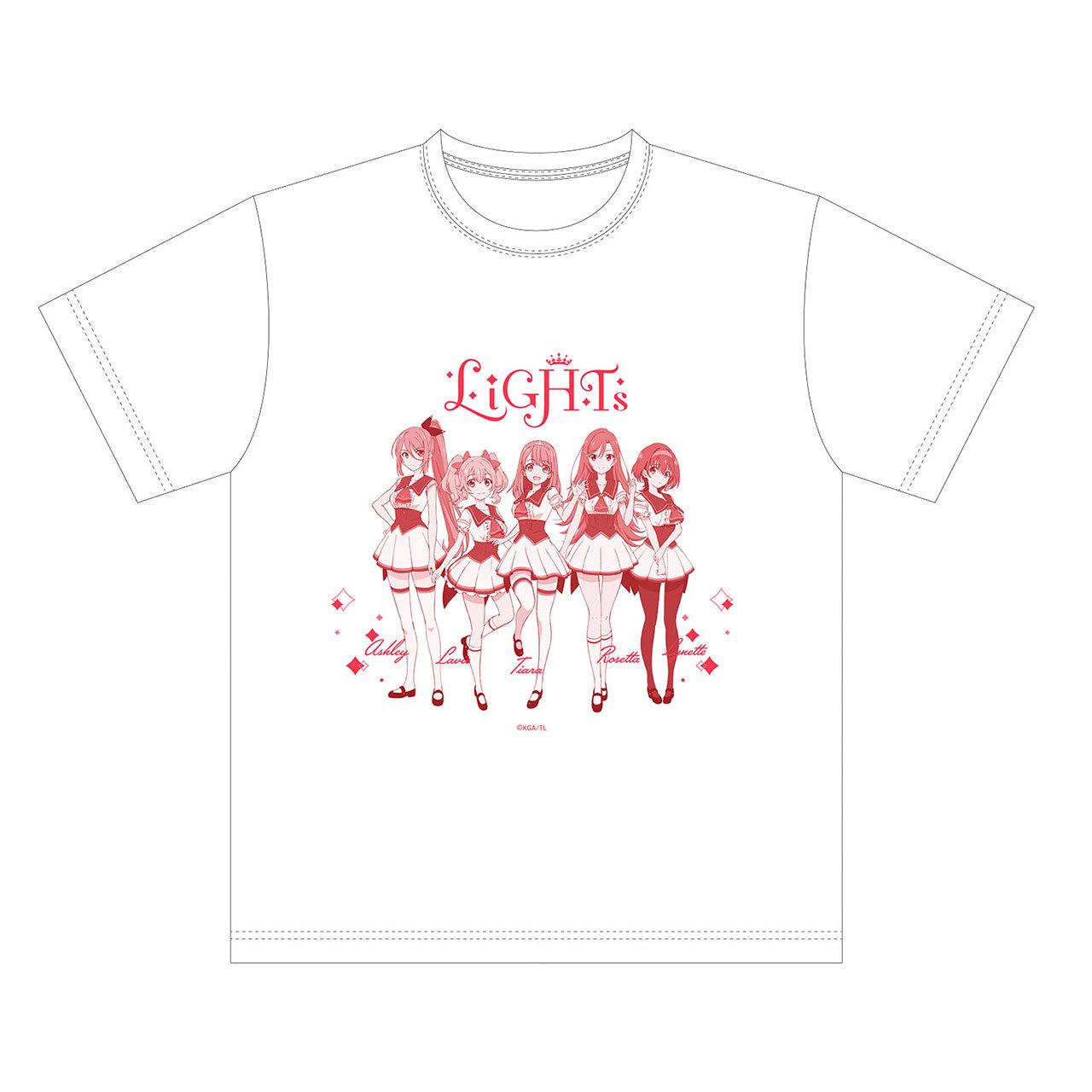 【4589839354370予】ラピスリライツ LiGHTs Tシャツ 白/Mサイズ