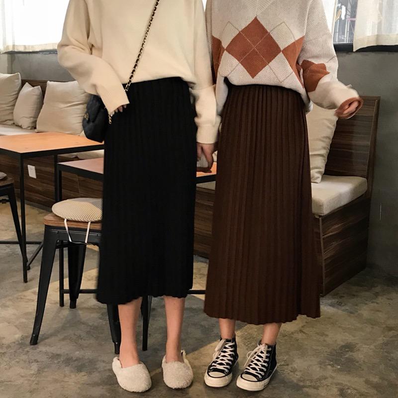 ins人気シンプルハイウエストカジュアル着痩せスカート277
