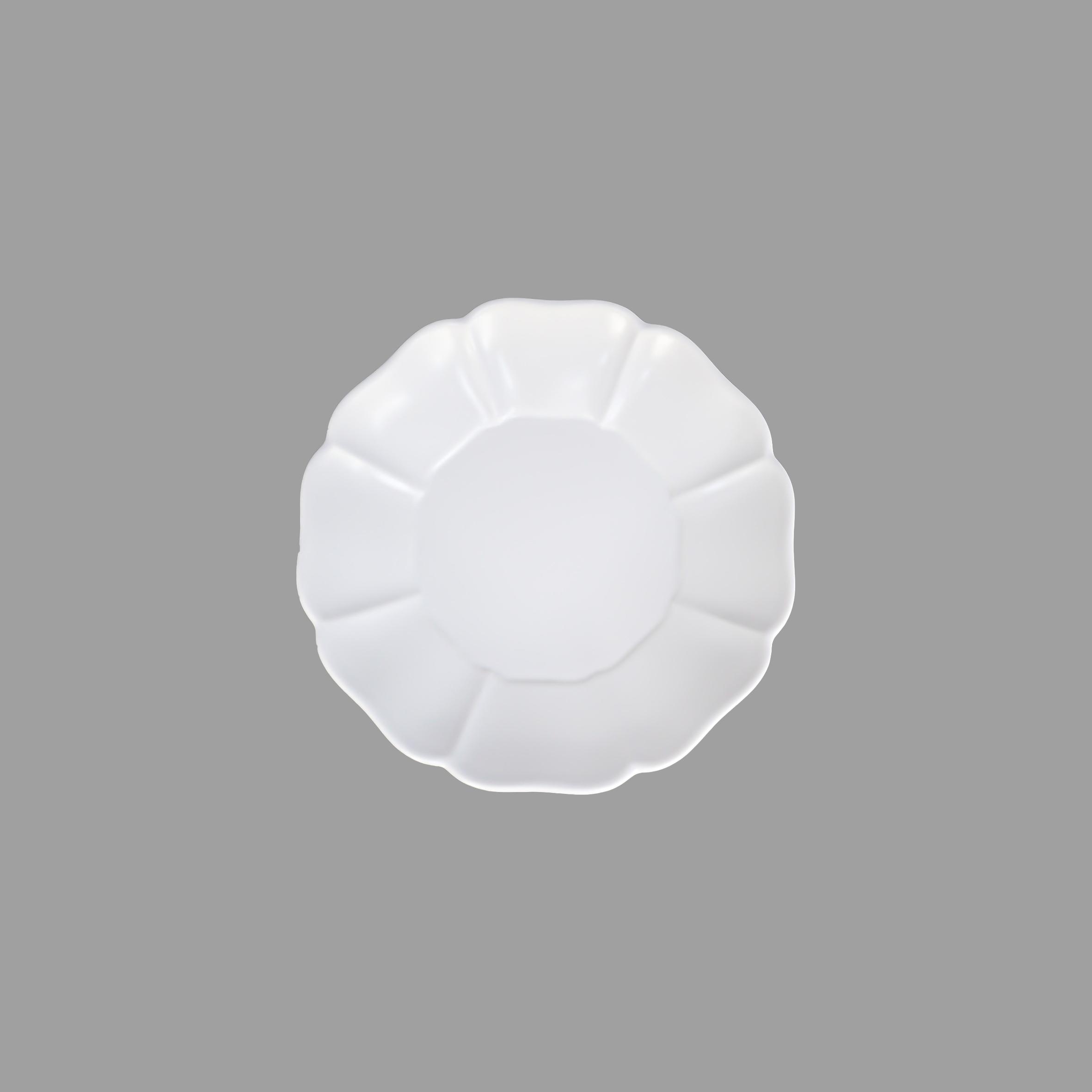 ホワイト花弁  5寸皿  ( 直径15cm )