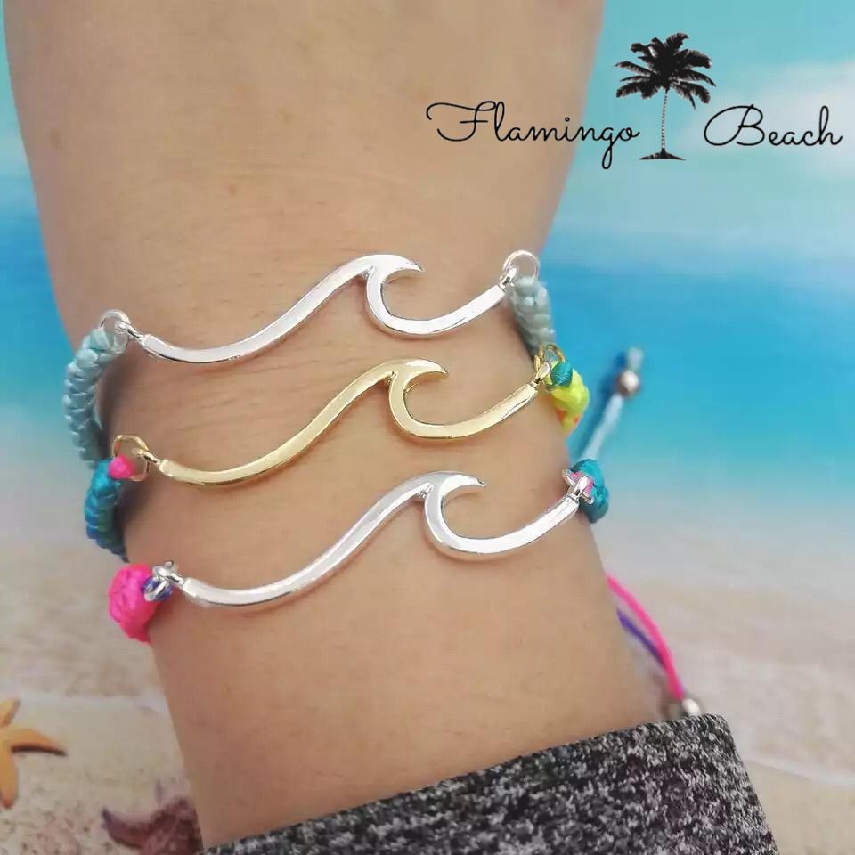 【FlamingoBeach】ウェーブ ブレスレット