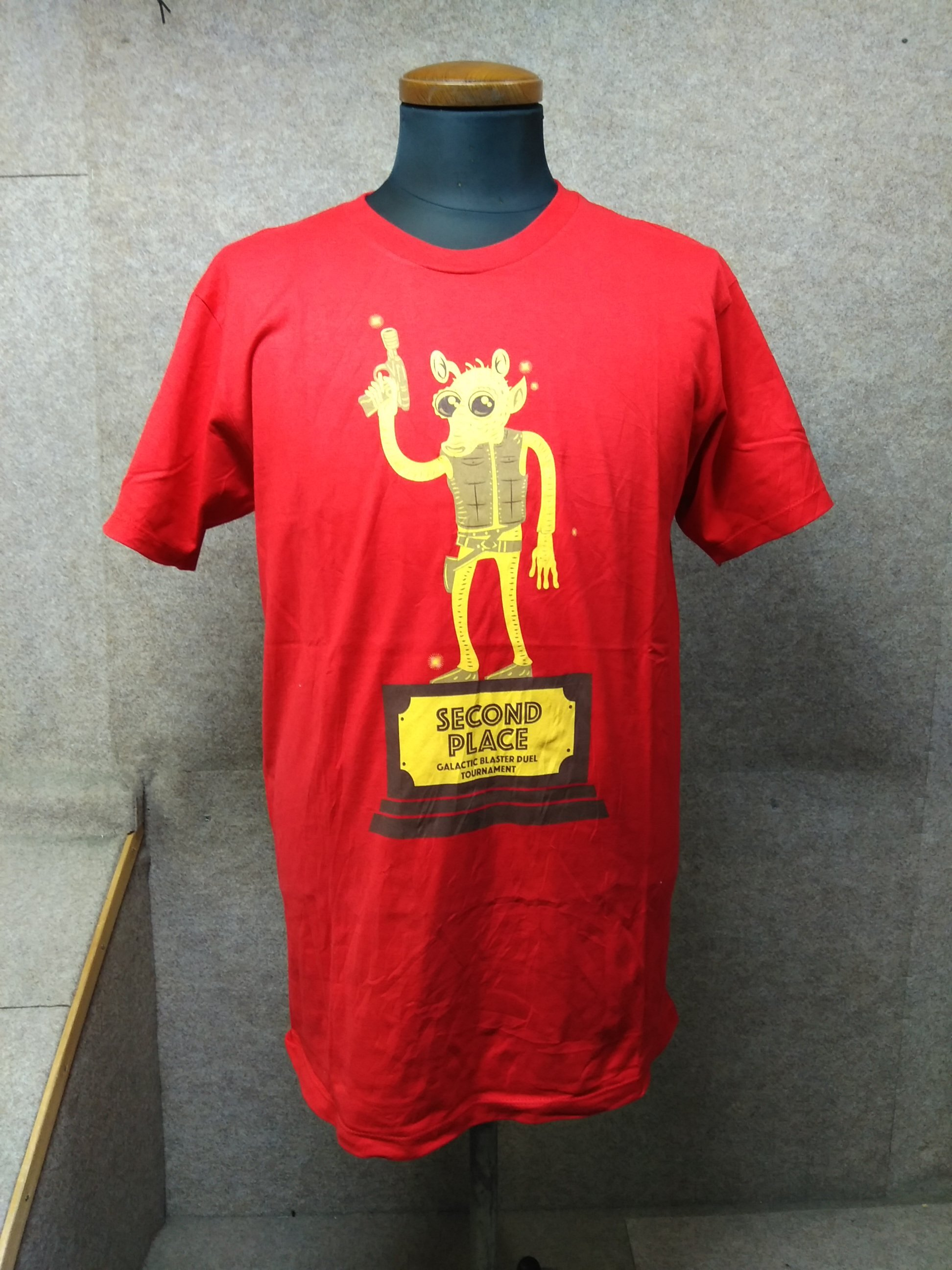 USA輸入古着 2nd place Tシャツ M 赤 宇宙人 h1030c