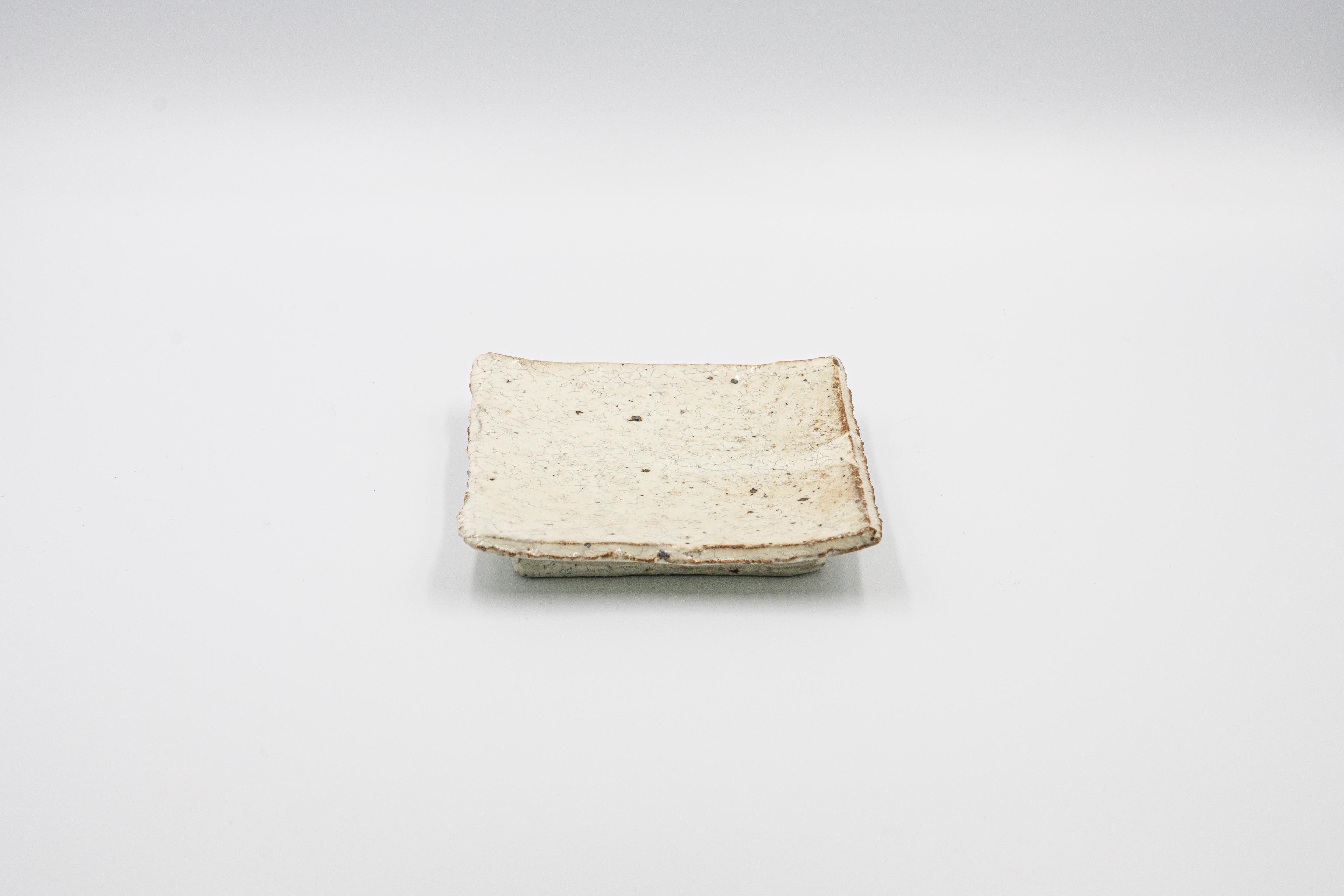 ◆受注生産◆粉引4寸正角皿 三浦繁久作