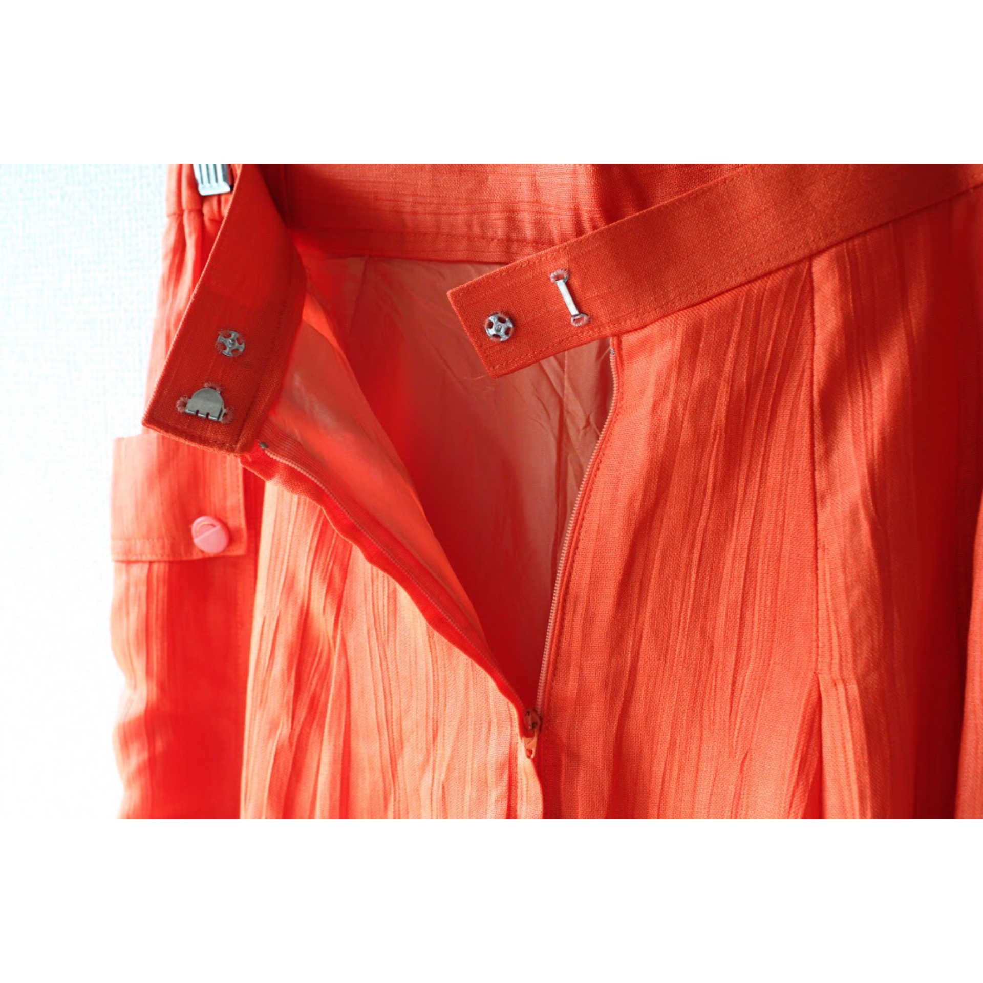 Vintage orange culottes