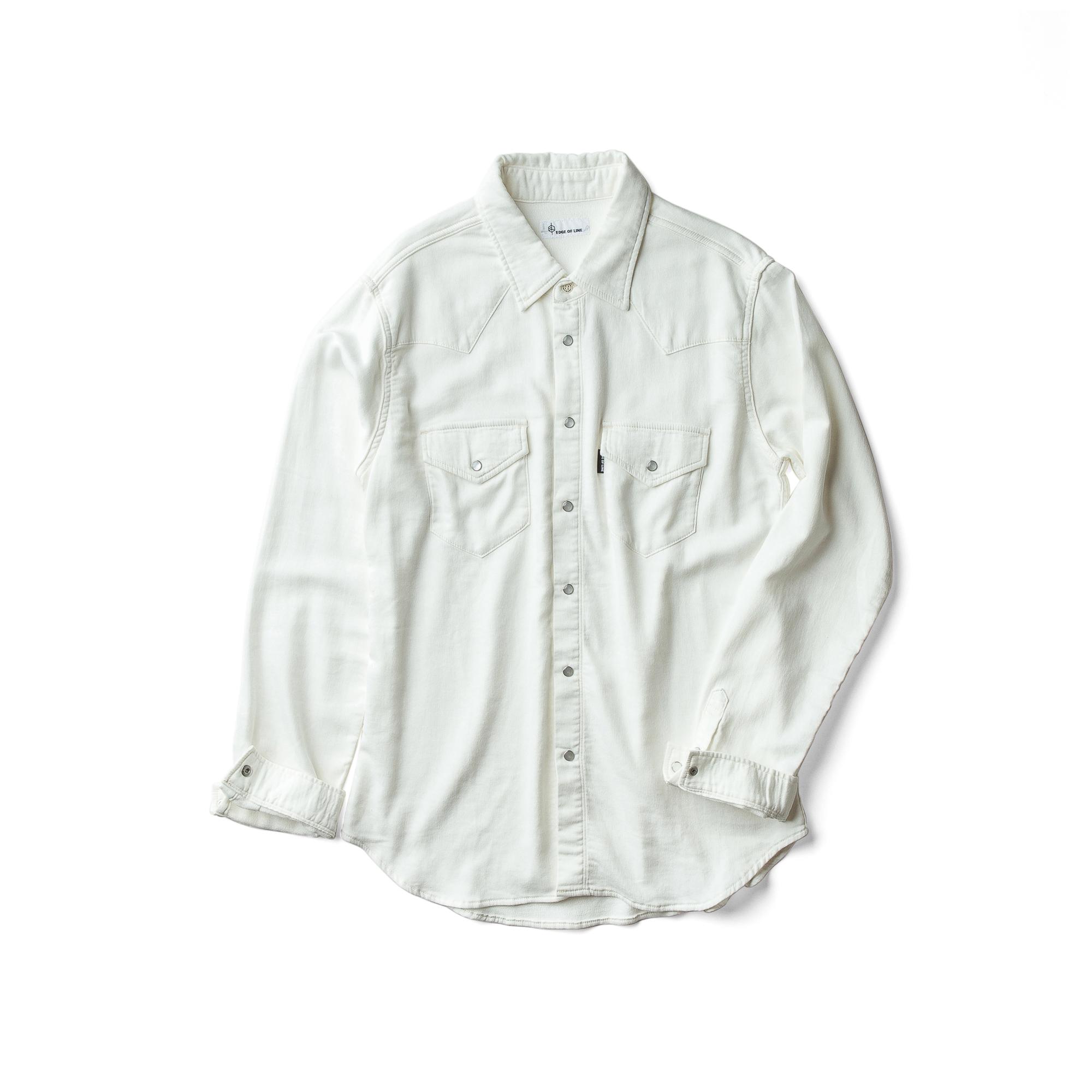 ウエスタンデニムシャツ ホワイト