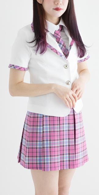 【レンタル3泊4日】アイドル制服セット【半袖ジャケットセット・ネクタイサービス】