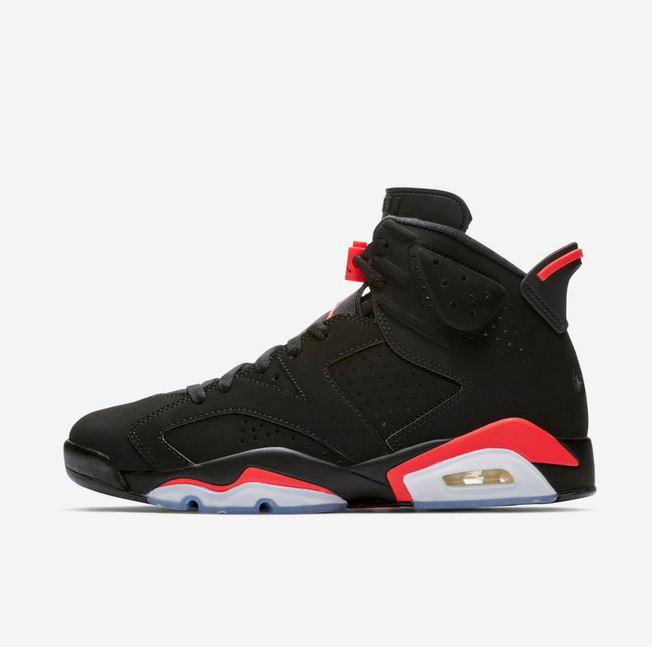 Nike Air Jordan 6 Retro OG Men's BLACK INFRARED