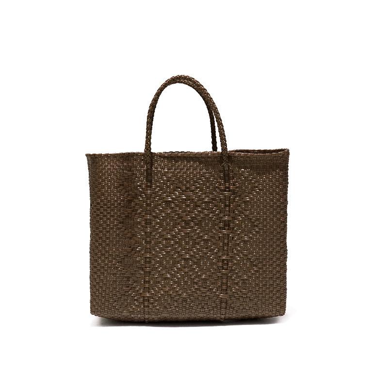 MERCADO BAG ROMBO - Brown(XS)