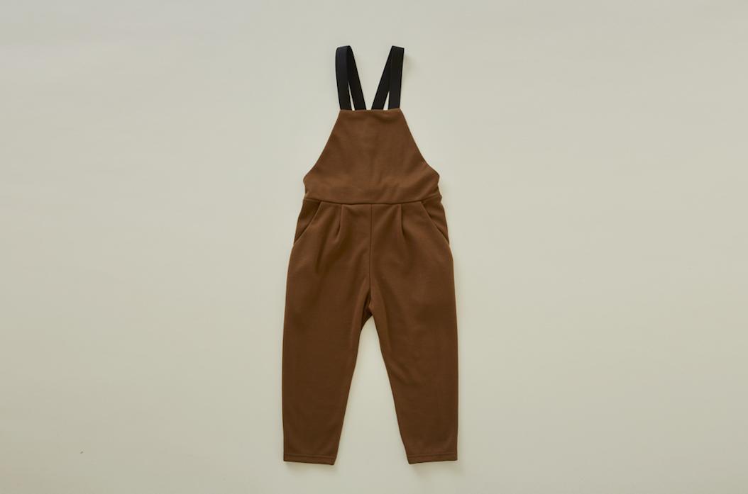 eLfinFolk(エルフィンフォルク)/punch knit overalls brown(110/120/130)