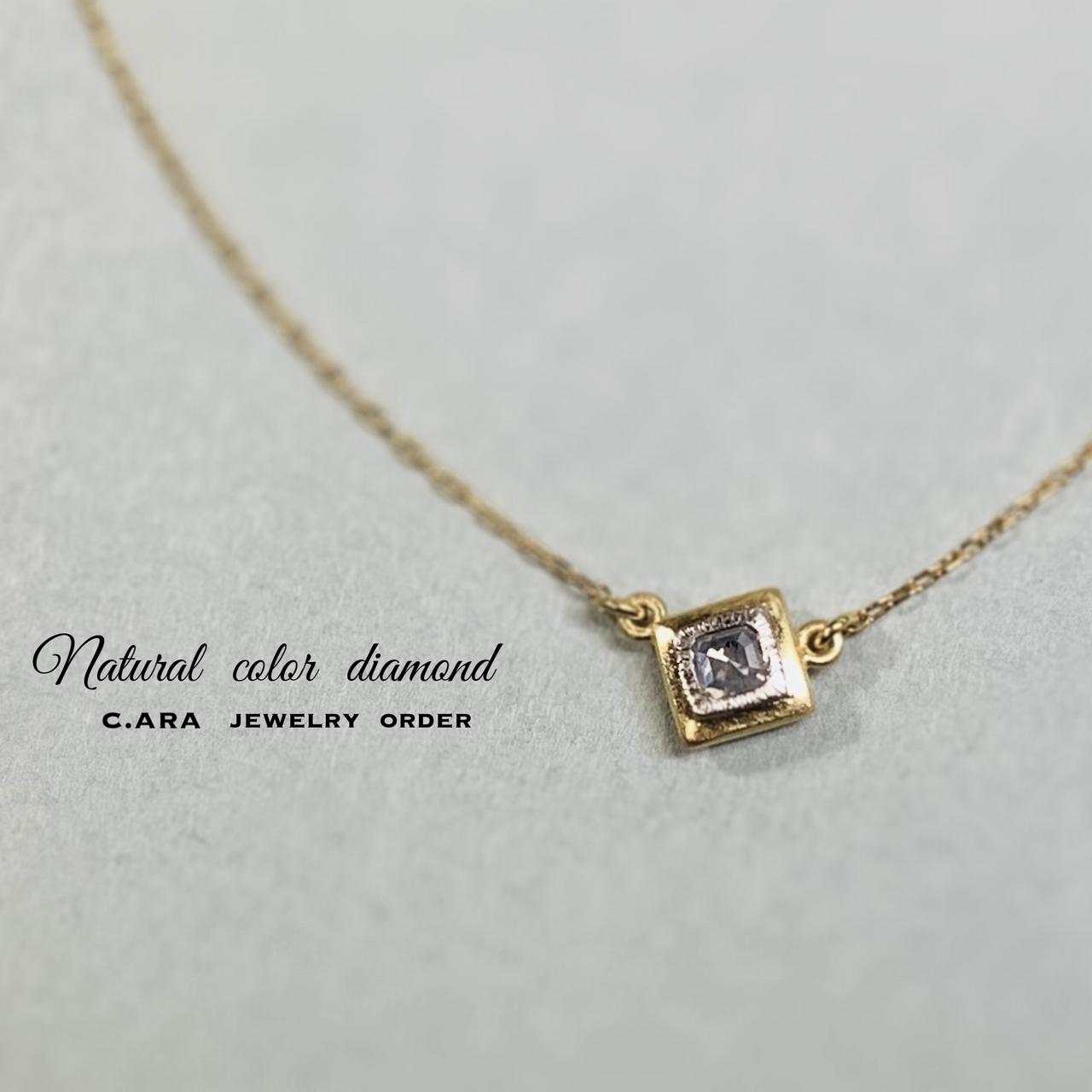 ドッピオ ダイヤモンドペンダント(コンビ)限定1点物