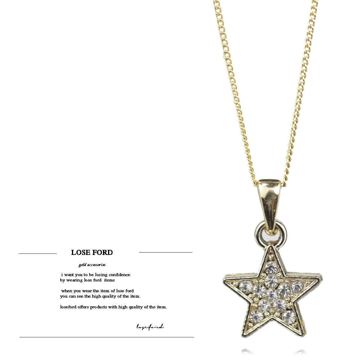18kgp gold star necklace loseford 18kgp gold star necklace mozeypictures Gallery