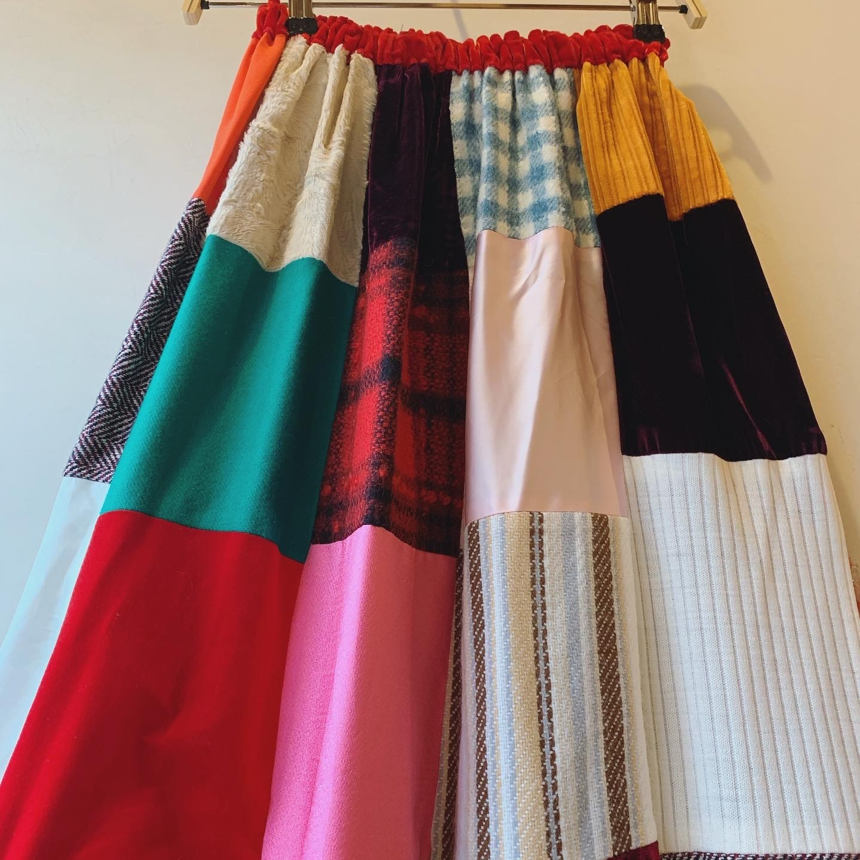 vintage handmade patchwork skirt