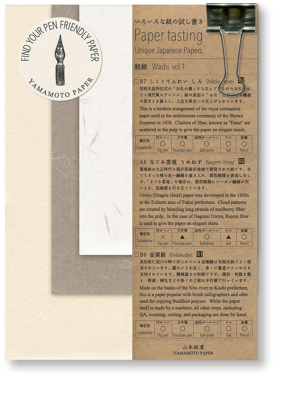 Paper tasting Washi vol.1