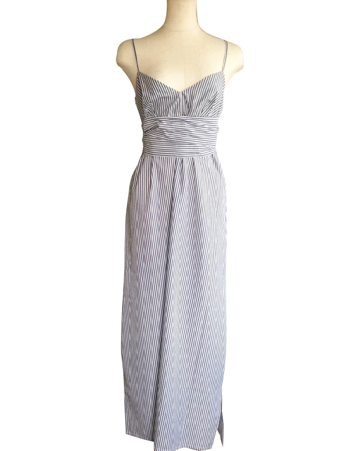 3Ways Maxi Dress Stripe Blue 3ウェイマキシドレスストライプブルー
