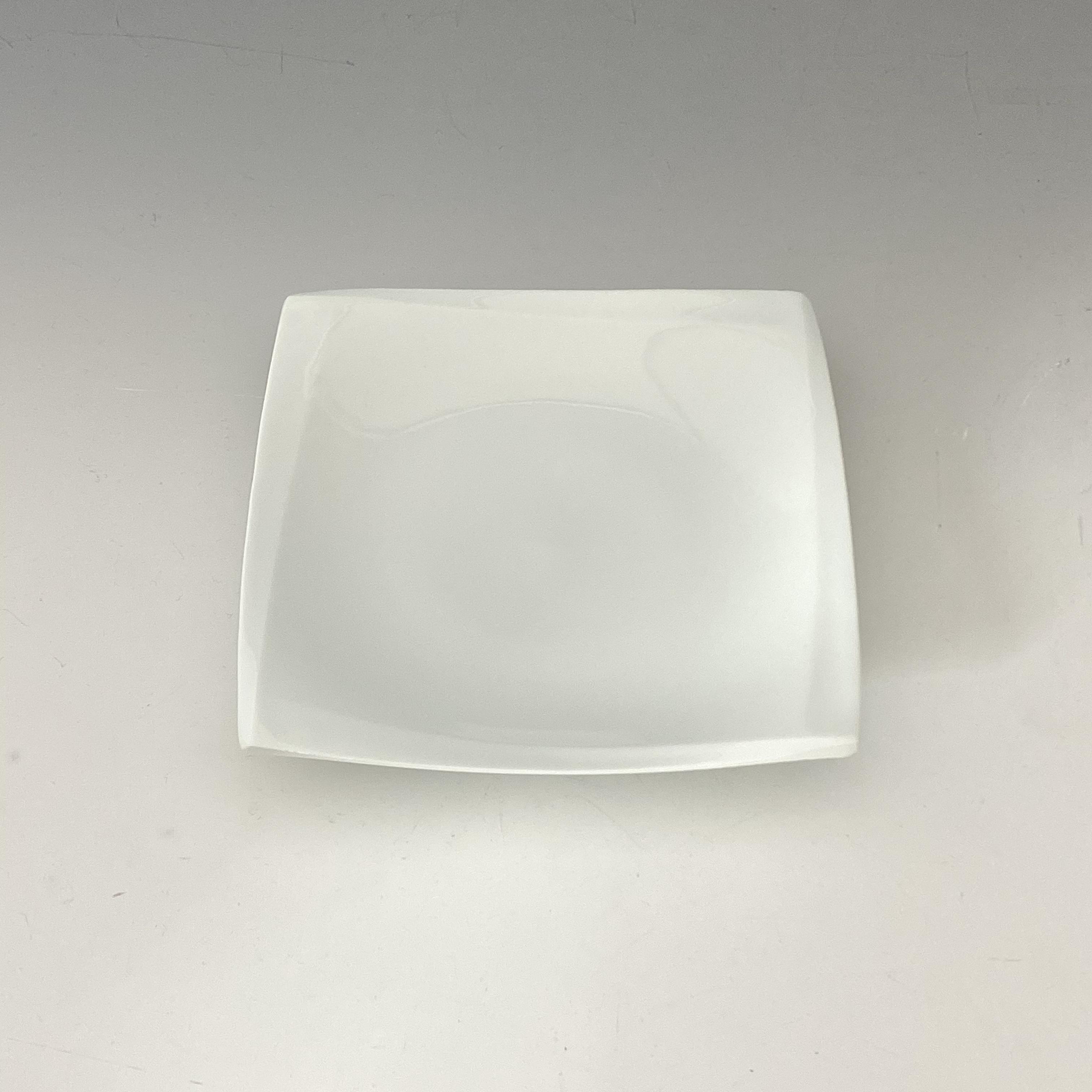 【中尾純】白磁稜線角皿(小)