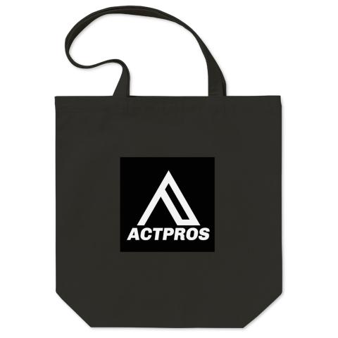 【EQUIPMENT】ACTPROS スクエアロゴ トートバッグ Mサイズ ブラック【5colors】