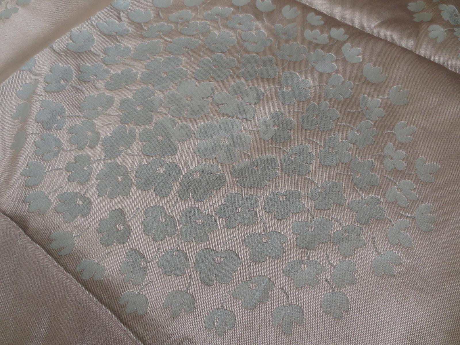【最後の1単位です!】イギリス★ローラアシュレイ★青&銀お花柄織物生地/95cm x 63cm