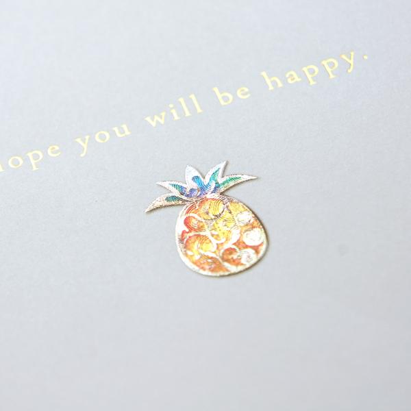 【パイナップル】ハッピーモチーフ金封 KHM10-2