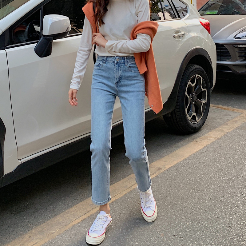 ウエストスリムストレートパンツ 【waist slim street pants】