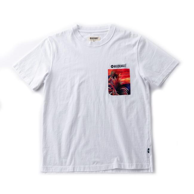 MAGIC NUMBER  アート サンセット Tシャツ ホワイト
