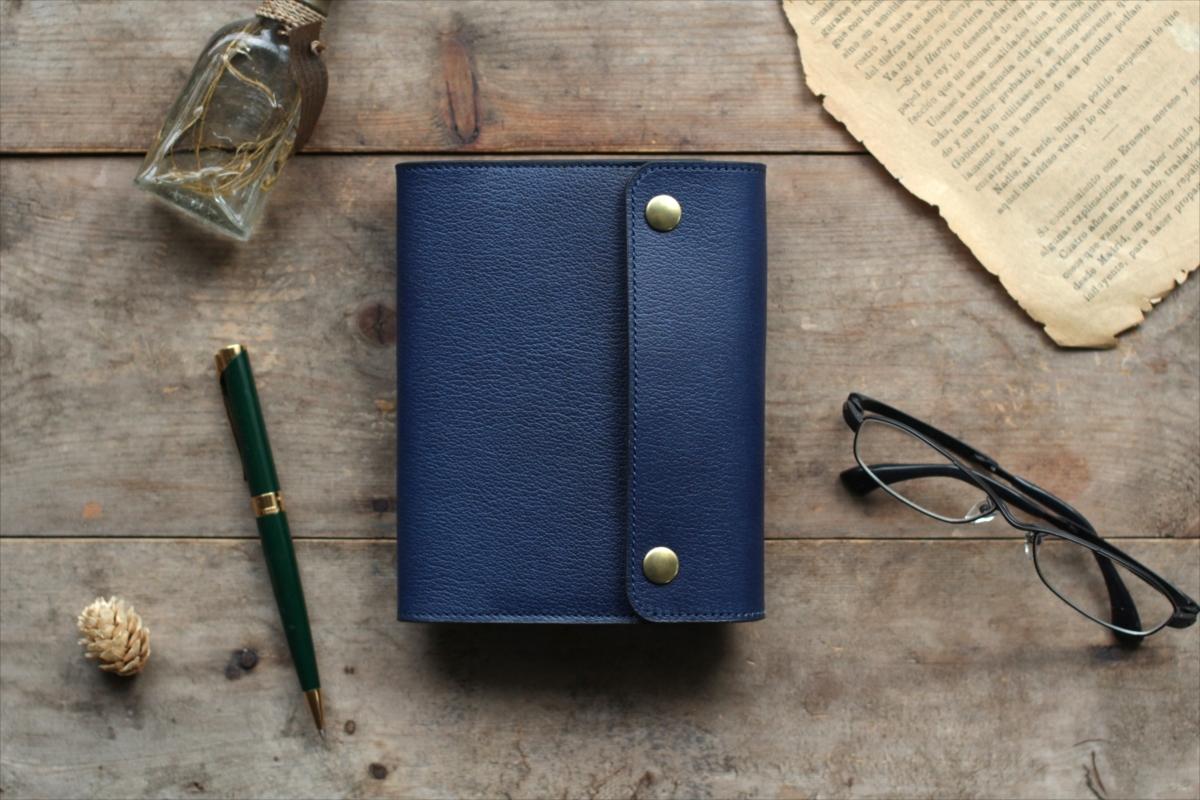 藍染革[shiboai] A6サイズノート手帳