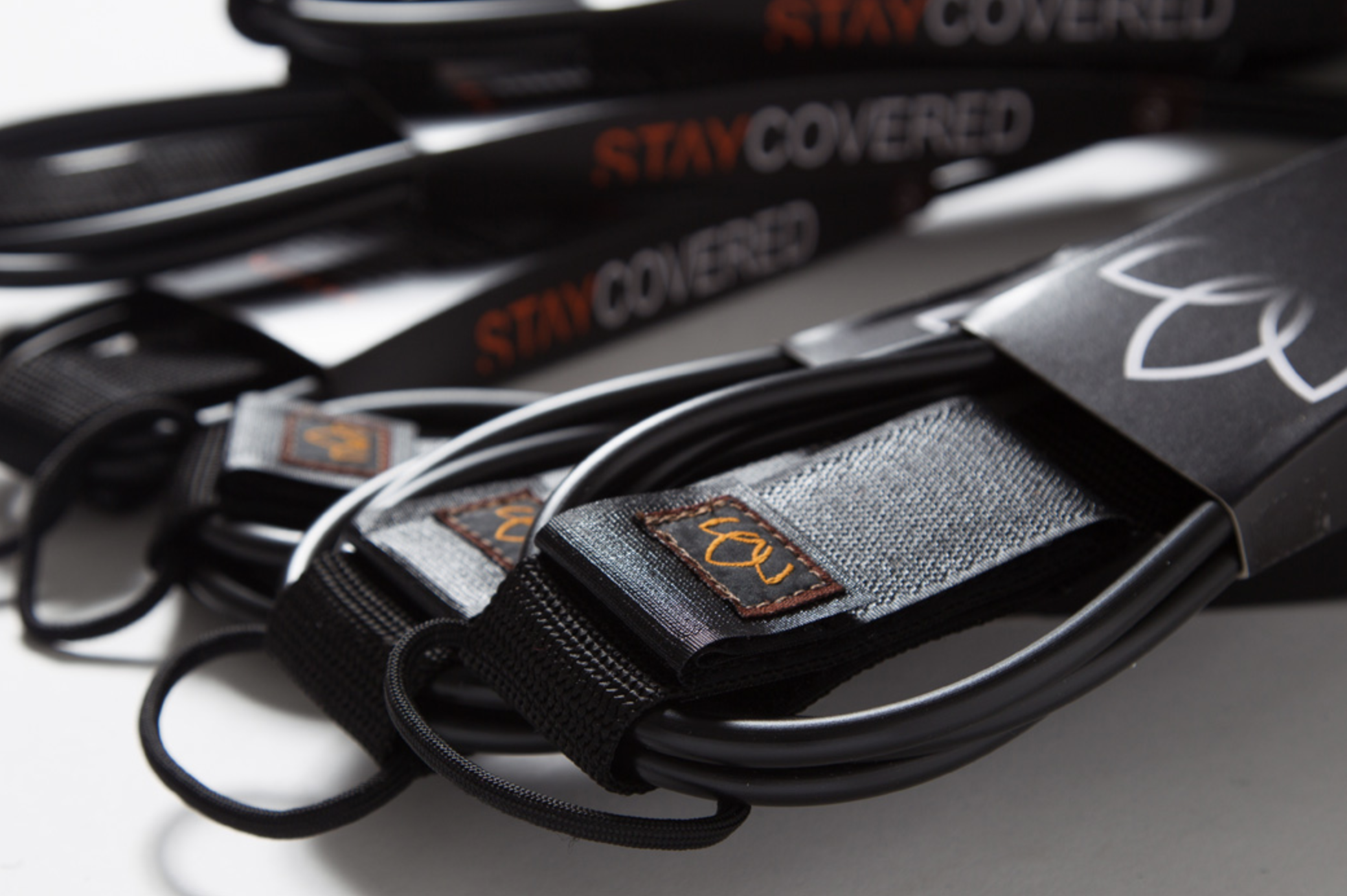 [STAY COVERED] リーシュ 9ft ANKLE COMP mat black
