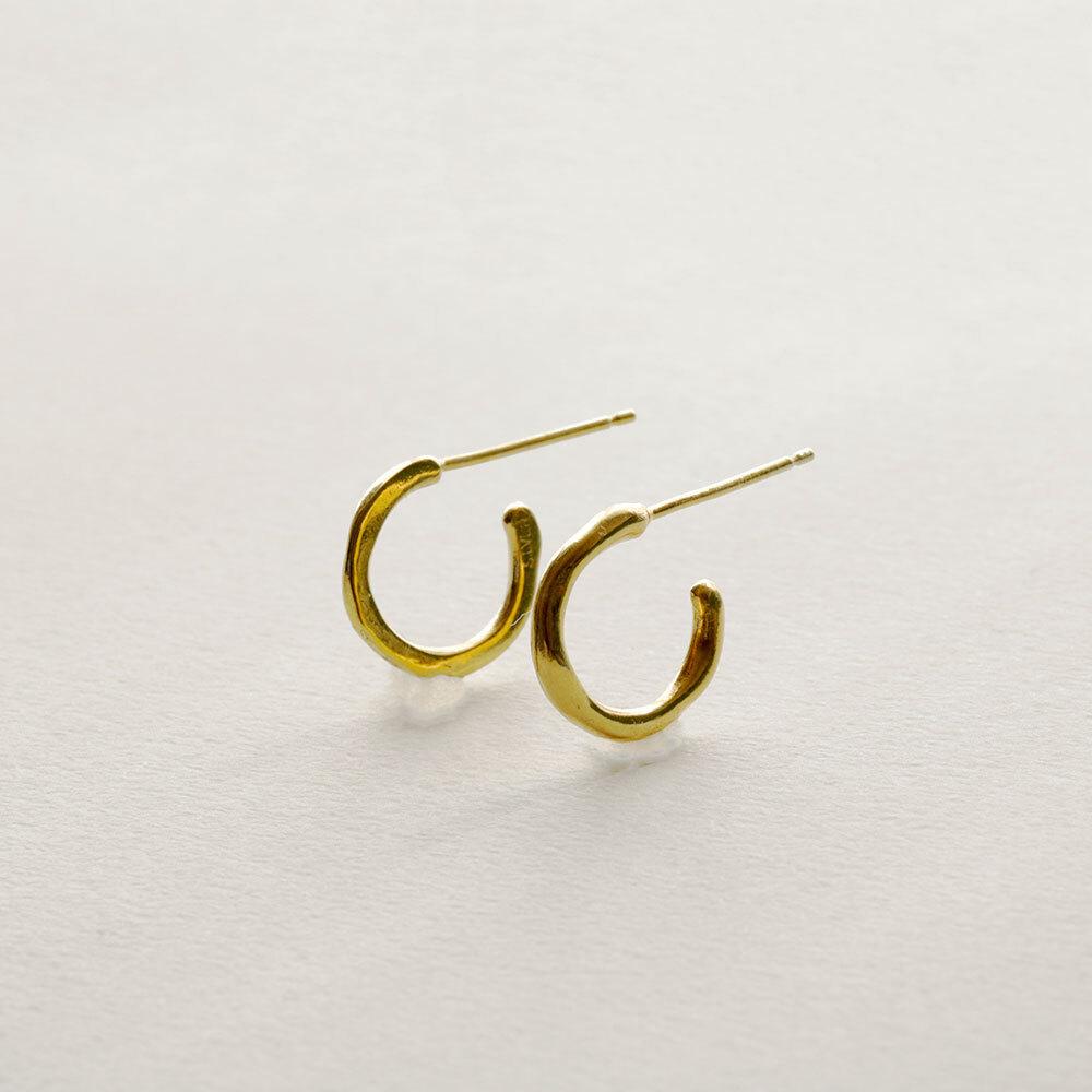 depth / hoop pierces - gold (pair)