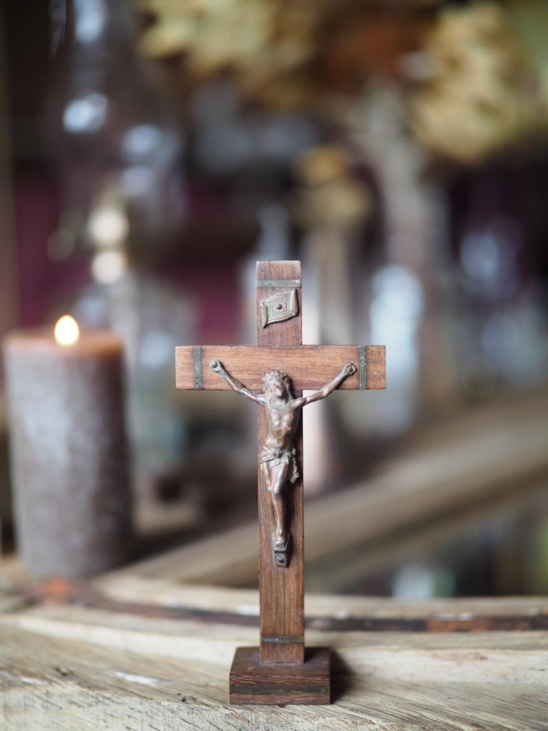 フランスアンティークキリストクロス木製
