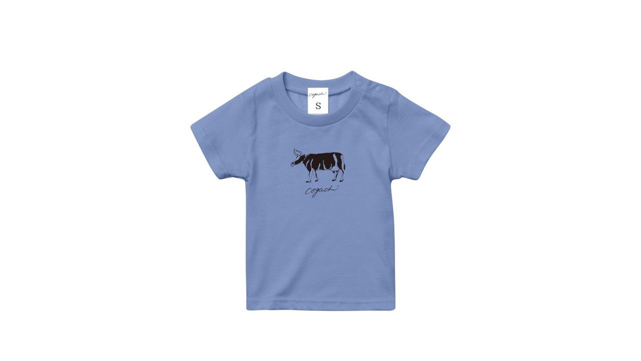 coguchi cow kids Tshirt (BL) 90cm