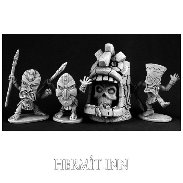仮面の小人族と神像(4体) - 画像1