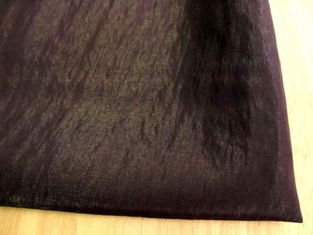 シルク・ワッシャータフタ(織物)フォーマル用 ブラウン CTM-0101