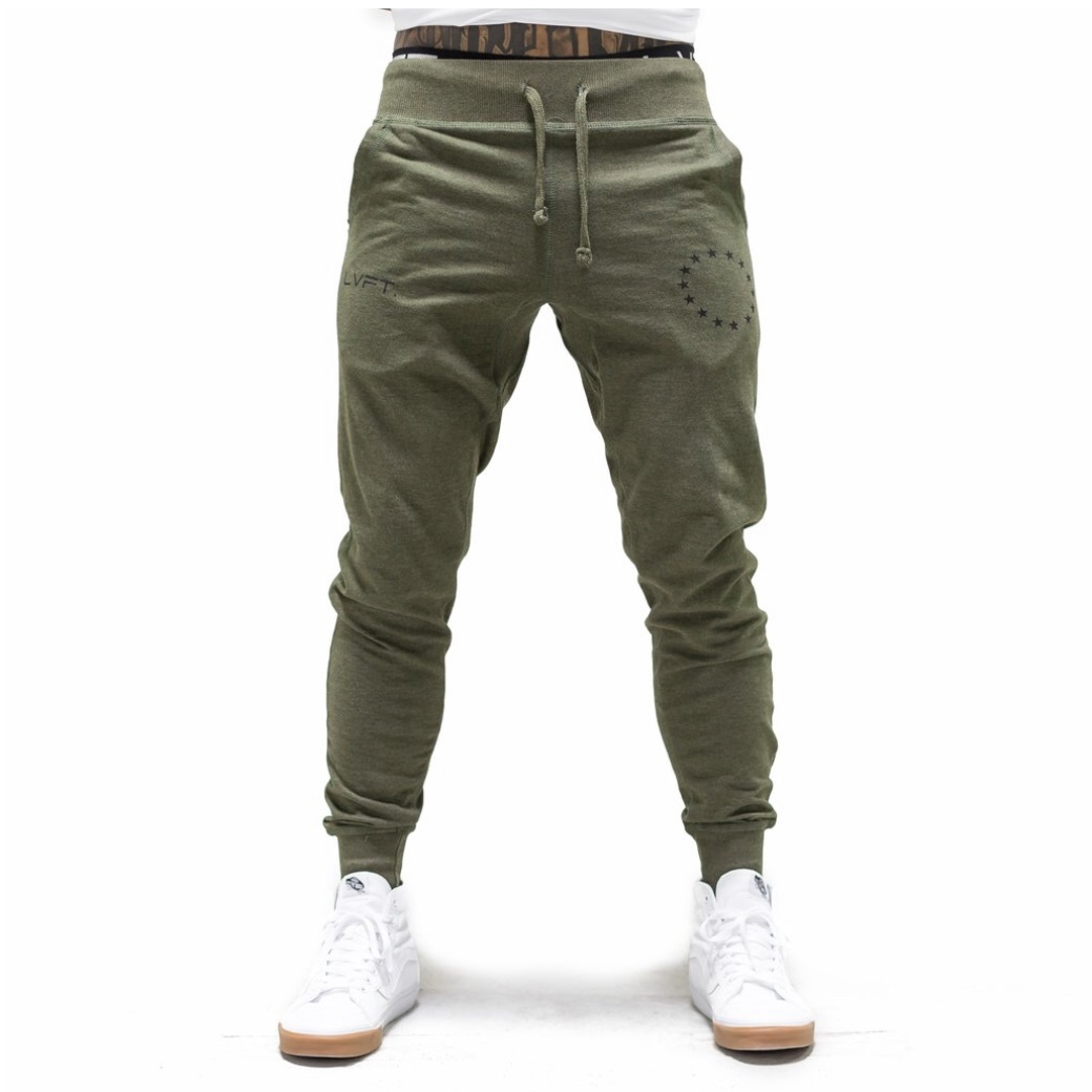 LIVE FIT Athlete Joggers - Olive/Black