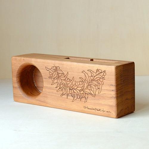 Wood eco speaker [Mile Lei / wood:チーク]  【WES-MIL-L-2】