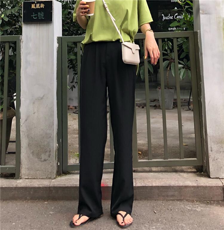 ワイドレッグきれいめパンツ 【wide leg formal pants】