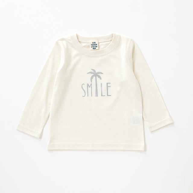 SMILE ヤシ柄 ロングスリーブTシャツ
