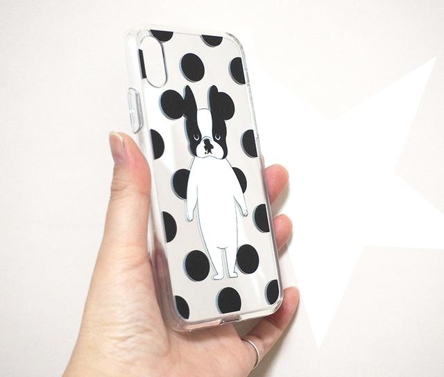 <受注制作>iPhone 普通サイズ ミラーケース ボストンテリア
