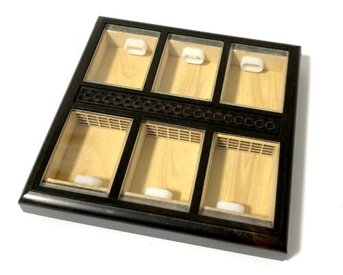 六房(6部屋)黒檀 フレーム窓 大サイズ