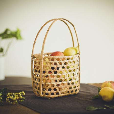 ざっくり籠 S ピクニックバスケット / Rough Basket (S)
